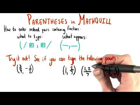 MathQuill - Fractional Coordinates - College Algebra thumbnail