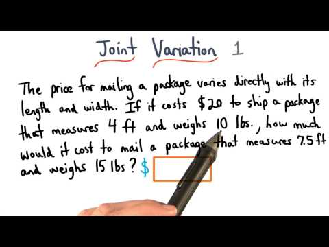 Joint Variation Practice 1 - Visualizing Algebra thumbnail
