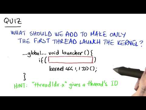 11-13 How Make Only the First Thread Launch a Kernel thumbnail