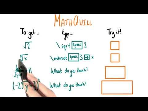 Mathquill - College Algebra thumbnail
