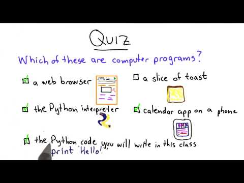 What Is a Program - Intro to Computer Science thumbnail