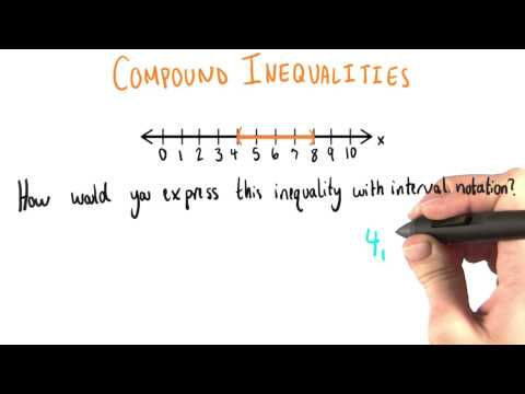 Interval Notation for Compound Inequalities - College Algebra thumbnail
