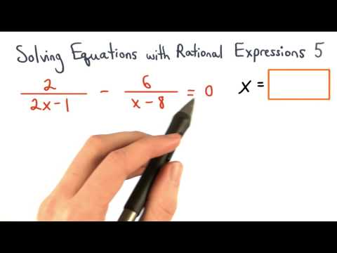 Solving Equations with Rational Expressions Practice 5 thumbnail