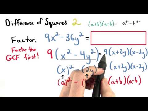 Difference of Squares 2 - Visualizing Algebra thumbnail