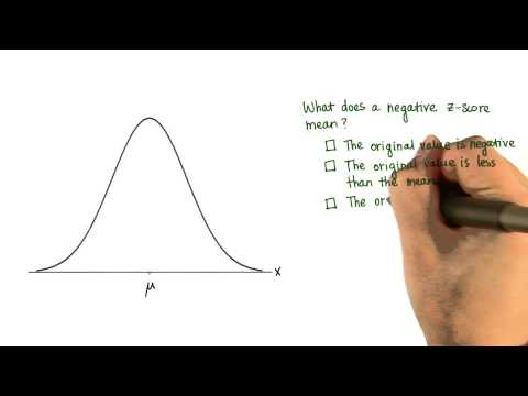 Negative Z-Score - Intro to Descriptive Statistics thumbnail
