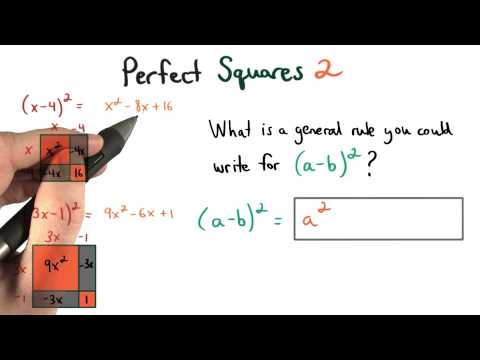 Perfect Squares Pattern 2 - Visualizing Algebra thumbnail