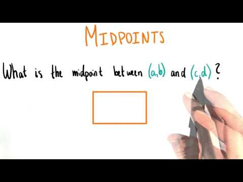 Find the Midpoint - College Algebra thumbnail