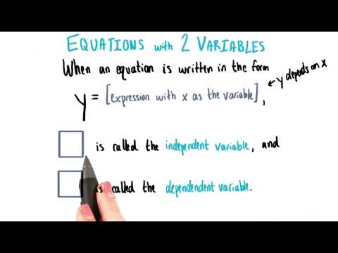 Independent and Dependent Variables - College Algebra thumbnail