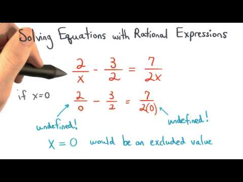 Excluded Values for Equations thumbnail