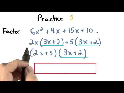 Factor by Grouping Practice 1 - Visualizing Algebra thumbnail