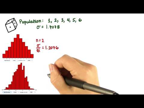 Standard Error for Avg of 5 Dice - Intro to Descriptive Statistics thumbnail