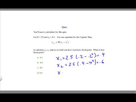 Intro 2.4 Logistic Map (Quiz Answer) thumbnail