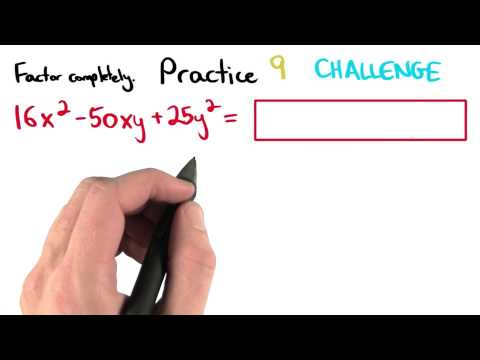 Factoring Practice 9 - Visualizing Algebra thumbnail