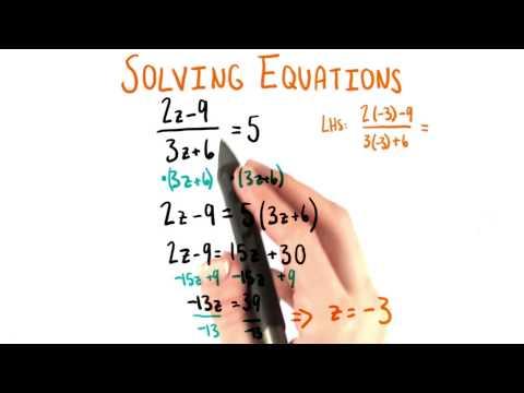 Solve for z - College Algebra thumbnail