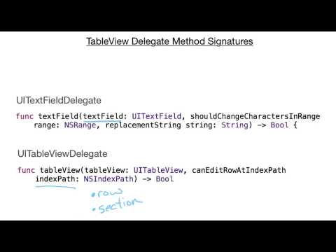 Recognizing the Corresponding Method Signatures - UIKit Fundamentals thumbnail