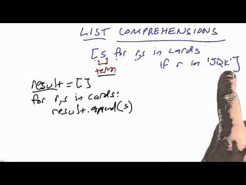 02-24 List Comprehensions thumbnail