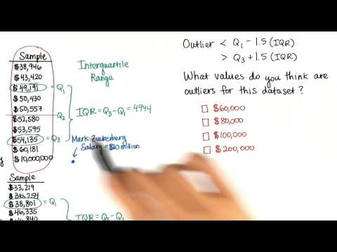 Define Outlier - Intro to Descriptive Statistics thumbnail