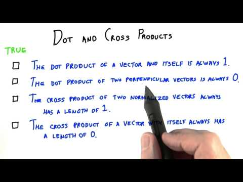 Dot and Cross Products - Interactive 3D Graphics thumbnail