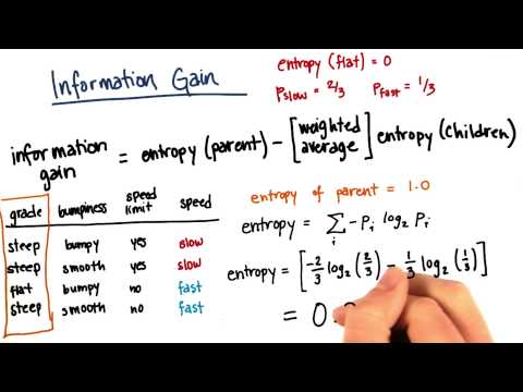 Information Gain Calculation Part 5 - Intro to Machine Learning thumbnail