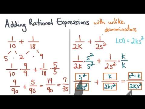 Add Rational Expressions Like Denominators - Visualizing Algebra thumbnail