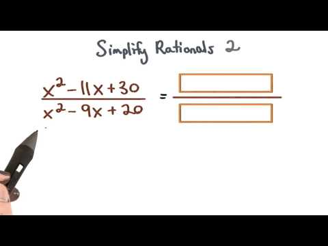 Simplify Rational Expressions 2 - Visualizing Algebra thumbnail