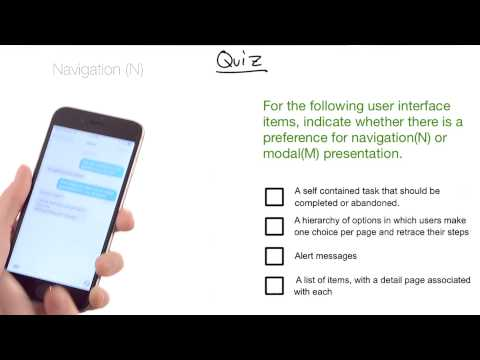 Modal Presentation vs Navigation - UIKit Fundamentals thumbnail