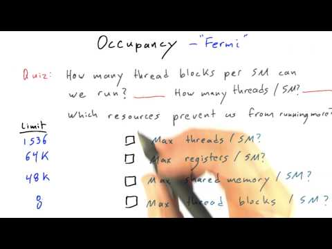 Occupancy on Fermi GPUs - Intro to Parallel Programming thumbnail