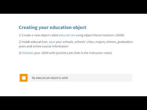 Validating JSON Quiz - JavaScript Basics thumbnail