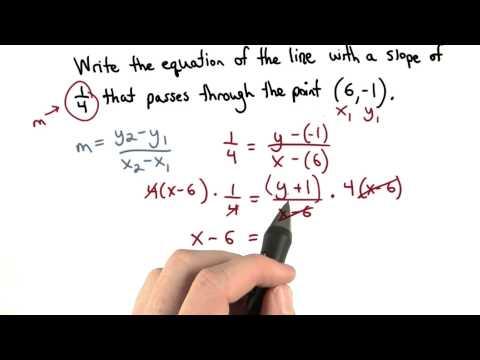 Point Slope Practice 1 - Visualizing Algebra thumbnail