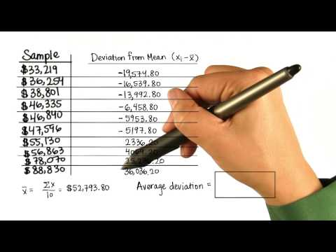 Average Deviation - Intro to Descriptive Statistics thumbnail