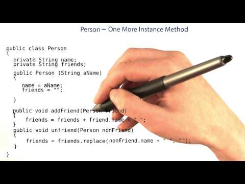 Implementing the getFriends Method - Intro to Java Programming thumbnail