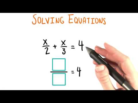 Fractional Equation - College Algebra thumbnail