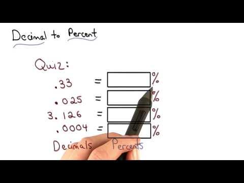 Decimal to Percent Quiz - Visualizing Algebra thumbnail