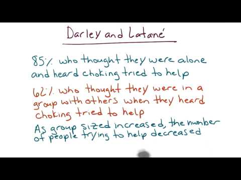Darley and Latane study - Intro to Psychology thumbnail