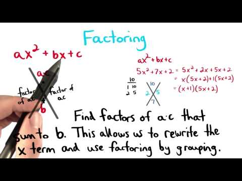 Factoring a Quadratic Trinomial - Visualizing Algebra thumbnail