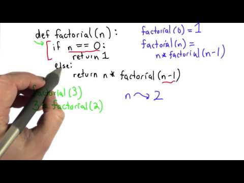 Recursive Factorial Solution - Intro to Computer Science thumbnail