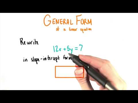 General To Slope Intercept - College Algebra thumbnail
