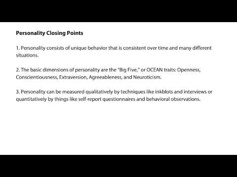Personality closing points - Intro to Psychology thumbnail