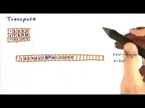 Transpose Part 1 - Intro to Parallel Programming thumbnail