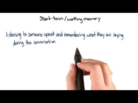 Short-term or working memory - Intro to Psychology thumbnail