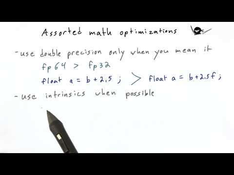 Assorted Math Optimizations - Intro to Parallel Programming thumbnail