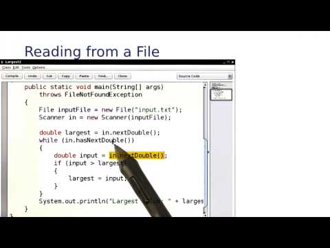 Reading from File - Intro to Java Programming thumbnail