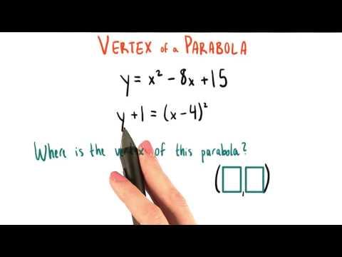Where is the vertex - College Algebra thumbnail