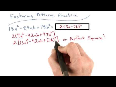Factoring Patterns Practice 7 - Visualizing Algebra thumbnail