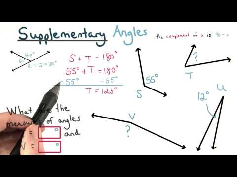 Supplementary Angles - Visualizing Algebra thumbnail