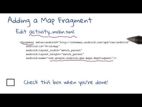 Adding the Map Fragment to The UI thumbnail