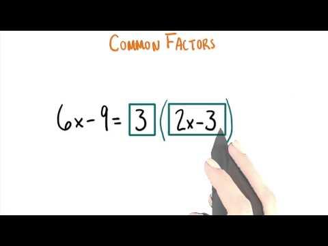 Common Factors - College Algebra thumbnail