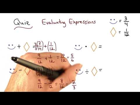 Evaluate Expressions Fractions - Visualizing Algebra thumbnail