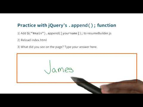 append() Solution - JavaScript Basics thumbnail