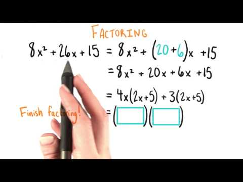 Finish Factoring - College Algebra thumbnail